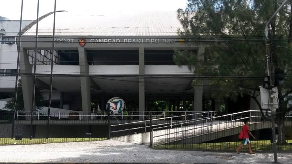 Fechada da Ilha do Retiro, estádio do Sport (Foto: Marcos Vinícius Gaspar/Alambrado)