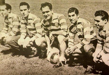 """Os """"Cinco Violinos do Sporting"""", provável base da seleção portuguesa (Foto: Sporting/Divulgação)"""