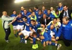 Seleçao da Itália que foi campeã em 2008 (Foto: Reprodução/mcalcio.com)
