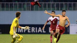 O gol histórico de Bimal Magar (Foto: Divulgação/fifa.com)