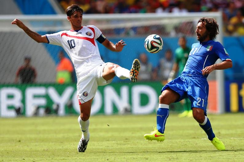 Capitão e camisa 10 da Costa Rica, Bryan Ruiz brilhou na Copa de 2014 (Foto: Divulgação/Federação Costarriquenha de Futebol)