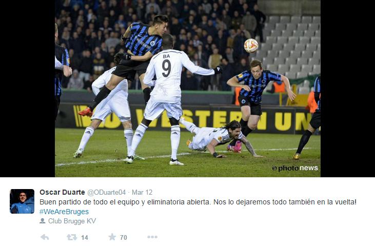 No Club Brugge, Duarte é um dos destaques (Foto? Reprodução/Instagram)