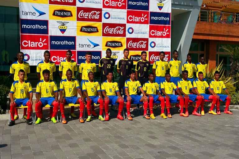 Seleção equatoriana enche de esperança a imprensa local (Foto: FEF/Divulgação)