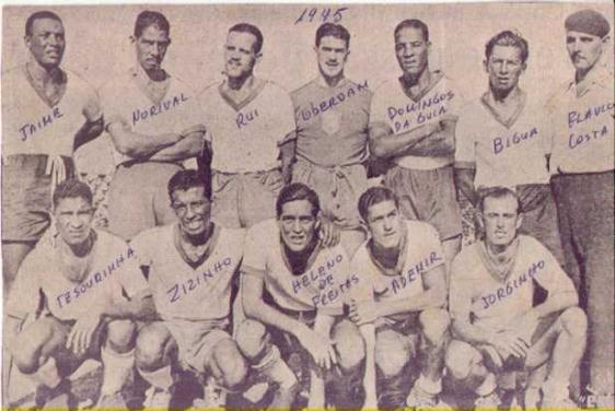 Seleção Brasileira durante a Copa América de 1945 (Foto: CBF/Divulgação)