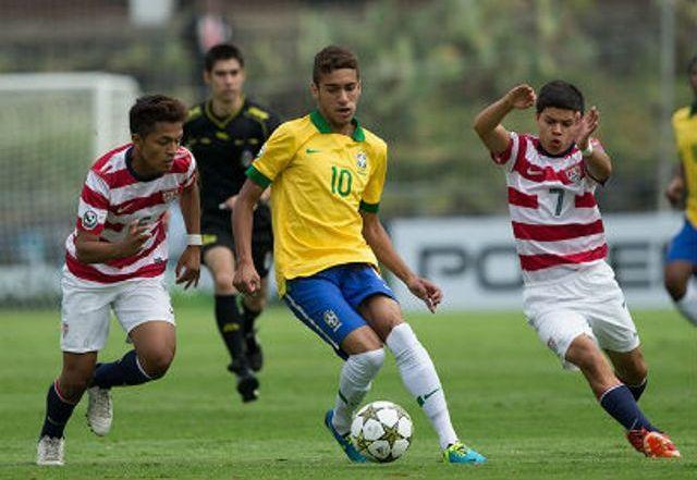Matheus Pereira, do Corinthians, é uma das promessas do Brasil (Foto: CBF/Divulgação)
