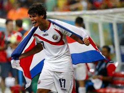Aos 22 anos, Tejeda brilhou na Copa do Mundo de 2014 pela Costa Rica (Foto: Reprodução/Twitter)