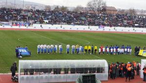 Primeiro amistoso oficial de Kosovo. Os rivais foram os haitianos (Foto: Reprodução/kosovoin.eu)