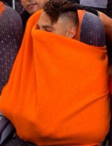 Guerrero amedrontado em vôo para os EUA, no início de 2015 (Foto: Reprodução/Instagram)