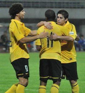 Trio de ouro do Guangzhou campeão da Liga dos Campeões da Ásia em 2013 (Foto: Reprodução)