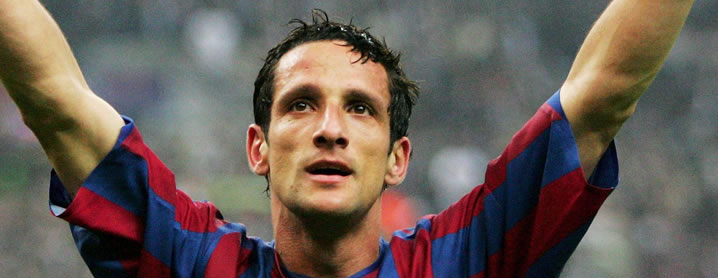 Belletti fez o histórico gol do título da Champions de 2006, sobre o Arsenal (Foto: Reprodução)