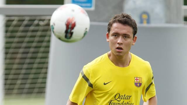 Keirrison não jogou e acumulou empréstimos durante seu contrato com o Barça (Foto: FCB)