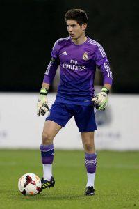 O goleiro Luca Zidane é filho do gênio Zizou (Foto: Divulgação / Real Madrid)