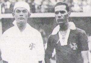 Jaguaré jogou  ao lado de Fausto no Vasco (Foto: Reprodução/osgigantesdacolina.blogspot.com)