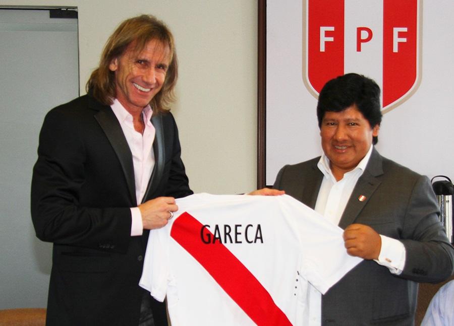 Após insucesso no Palmeiras, Gareca foi contratado pela seleção bicolor (Foto: Divulgação/Federação Peruana)