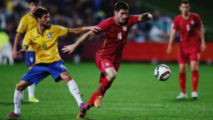 Brasil e Sérvia fizeram uma final movimentada (Foto: Reprodução/foradejogo08.blogspot.com)