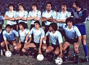 A ótima seleção uruguaia campeã em 1983  (Foto: Reprodução/clicrbs.com.br)