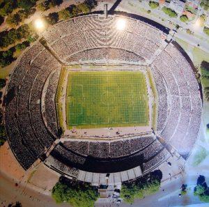 Vista aérea do histórico estádio Centenário de Montevidéu (Foto: Divulgação/auf.uy)