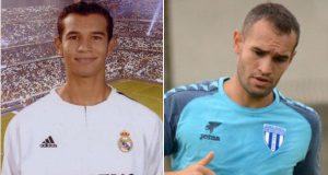 Tha'er Bawab no Real Madrid e dez anos depois na Romênia (Foto: Reprodução/sports360.com)