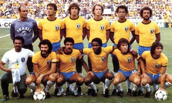 """A lendária Seleção Brasileira de 1982, pouco antes da """"Tragédia do Sarriá"""" (Foto: Reprodução)"""