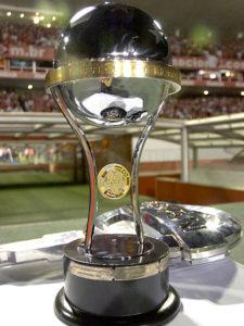O troféu desejado da Copa Sul-americana (Foto: Reprodução/blogdoipe.com)