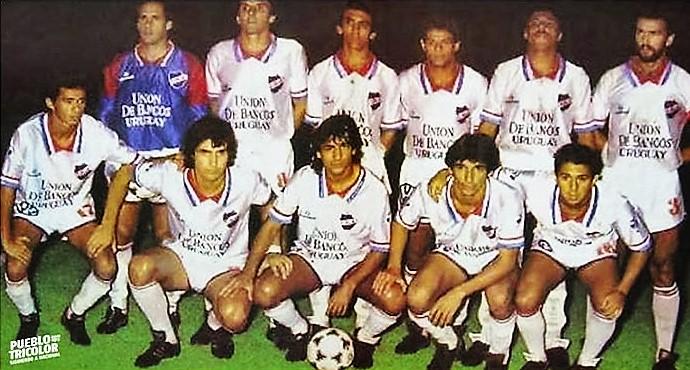 Nacional de Montevidéu venceu Racing na final da Recopa de 1989 (Foto: Reprodução/Conmebol)