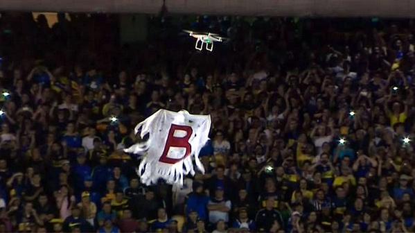 Ia ter drone na Champions das Américas? (Foto: Reprodução)