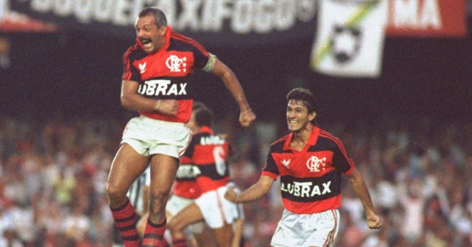 Título do Flamengo em 1992 contou com mais uma vitória do rubro-negro sobre o freguês Botafogo (Foto: Reprodução)