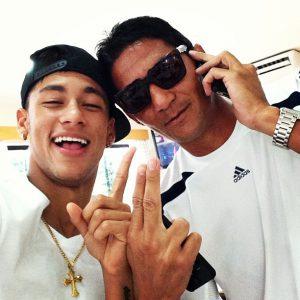 Neymar era um dos que mais gostava de brincar com o colega (Foto: Reprodução)