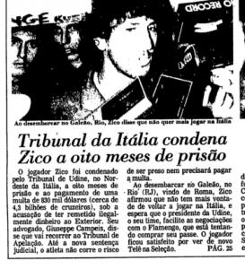 Zico já passou pelo mesmo problema de Lionel Messi (Foto: Reprodução)