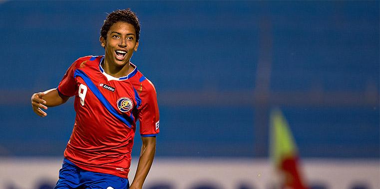 Reyes tem faro de gol e pode ser decisivo para a Costa Rica (Foto: Divulgação/Concacaf)