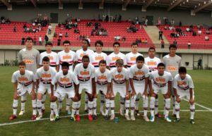 A equipe perdeu o estadual sub-15 para o Desportivo Brasil (Foto: Divulgação/saopaulofc.net)
