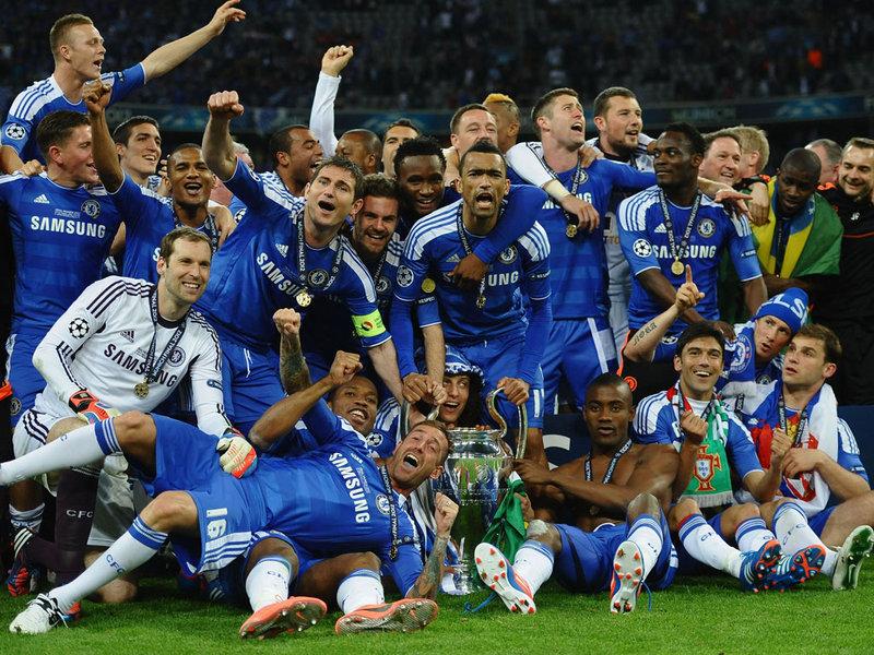 Chelsea, o último inglês a conquistar a Liga dos Campeões (Foto: Reprodução)
