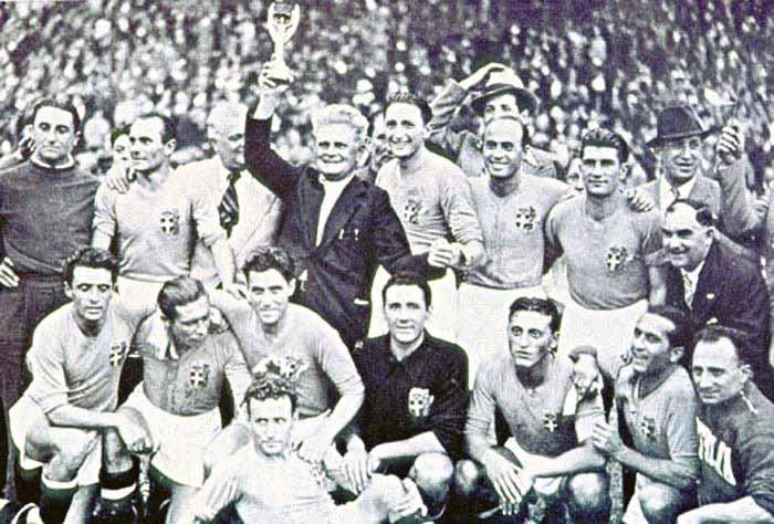 Copa de 38, na França, teve Itália campeã; Espanha foi impedida de participar devido à Guerra Civil (Foto: Reprodução)
