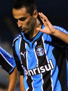 Jogador em sua passagem pelo Rio Grande do Sul (Foto: Reprodução)