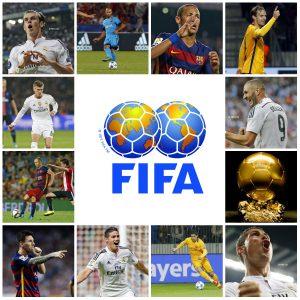 Onze jogadores dos 23 melhores do mundo estão na Espanha (Foto: Montagem)