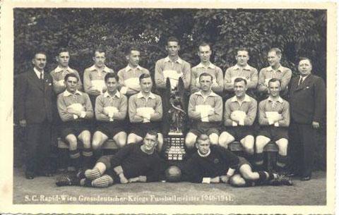 o elenco do Rapid campeão da temporada 1940/1941 (Foto: Reprodução)