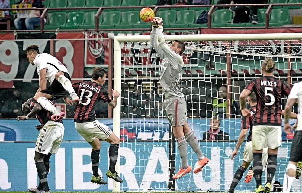 Diante da Atalanta, Donnarumma fechou o gol (Foto: Divulgação/AC Milan)