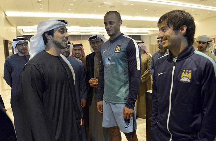 Mansour ao lado de Kompany e Silva: craques, mas pouco midiáticos