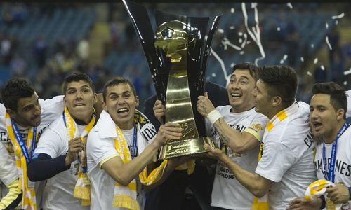 A comemoração do título da Concachampions, que deu vaga para o Mundial (Foto: Divulgação/Concacaf)