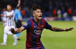 Jogador celebra gol na decisão da Liga dos Campeões (Foto: Reprodução)