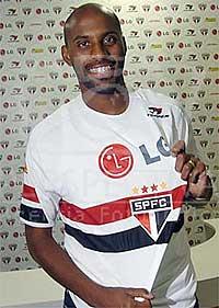 Jogador em apresentação no São Paulo (Foto: Reprodução)