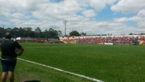 A torcida do Flamengo também marcou presença no Nicolau Alayon