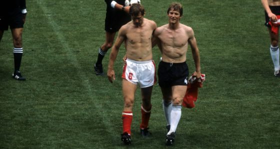 Amigos e nada rivais. Pelo menos em 1982 (Foto: Reprodução)