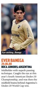 Banega surgiu com moral no Boca Juniors (Foto: Reprodução/soccernostalgia.com)