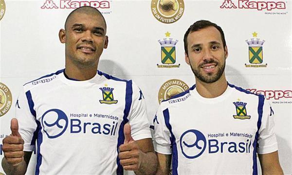 Experientes, Branquinho e Agenor confiam no planejamento do Santo André para o torneio (Foto: Divulgação/EC Santo André)