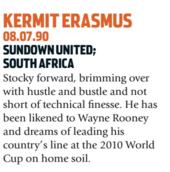 Erasmus era esperança da África do Sul (Foto: Reprodução/soccernostalgia.com)