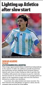 Aguero quebrou recordes no futebol argentino (Foto: Reprodução/soccernostalgia.com)