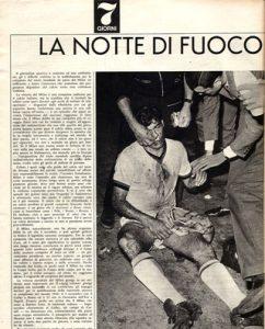 """""""A noite de fogo"""" retratada pelos jornais italianos (Foto; Reprodução)"""