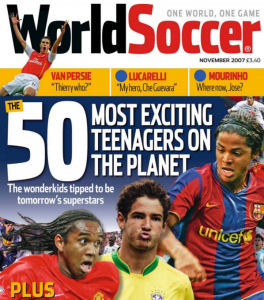 A capa da edição de novembro de 2007 (Foto: Reprodução/soccernostalgia.com)