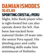 Ismodes era a esperança peruana (Foto: Reprodução/soccernostalgia.com)